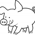 Happy Pig Coloring Page