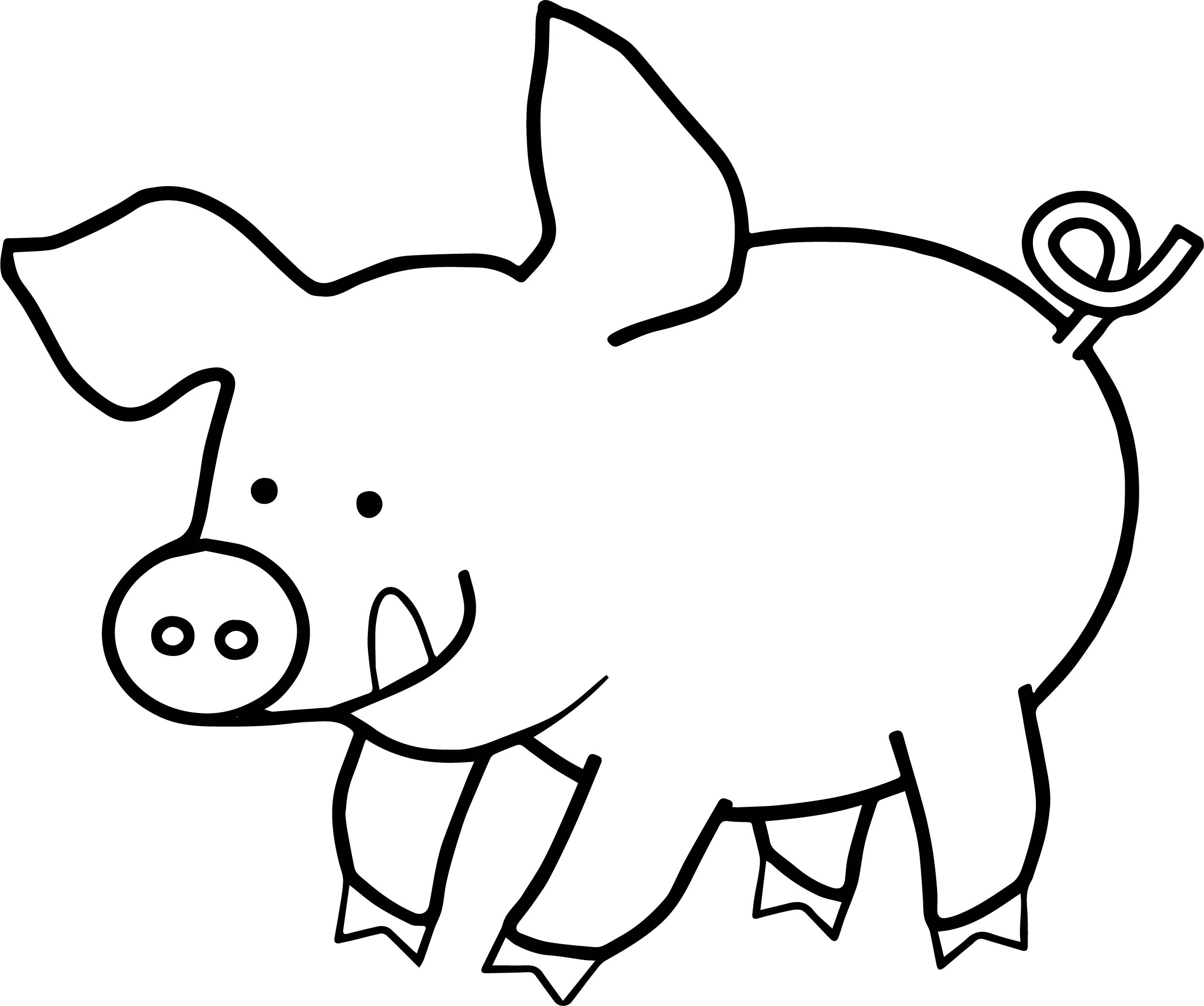 Happy pig coloring page for Piglet coloring pages