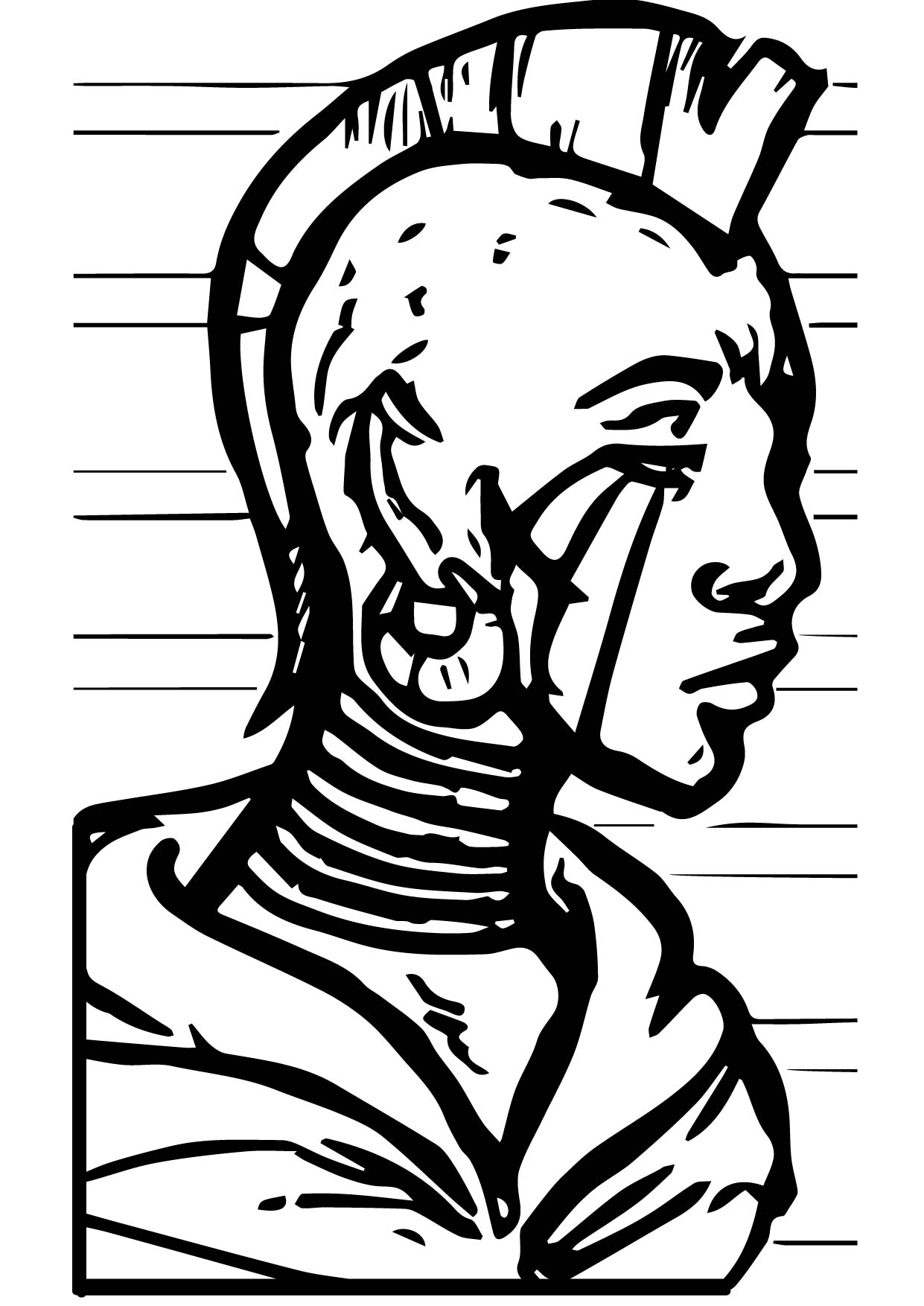 Human Man Zecora Coloring Page
