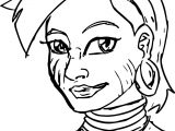Humanized Zecora Sketch Coloring Page