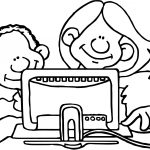 It Back Computer Activity Coloring Page