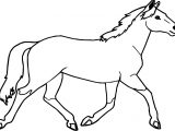 Jogging Arabian Horse Coloring Page