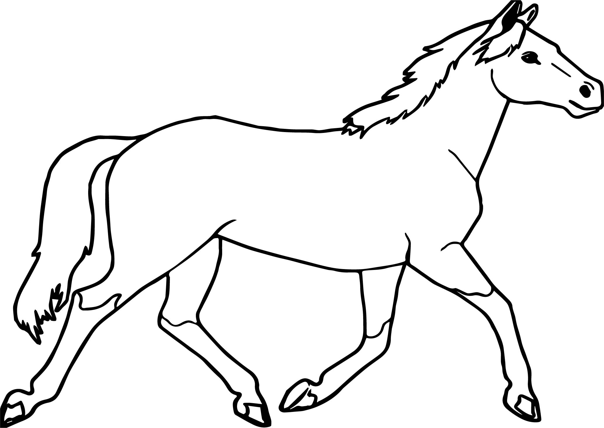 Jogging arabian horse coloring page for Horse pages to color