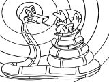 Kaa Snake And Zecora Coloring Page
