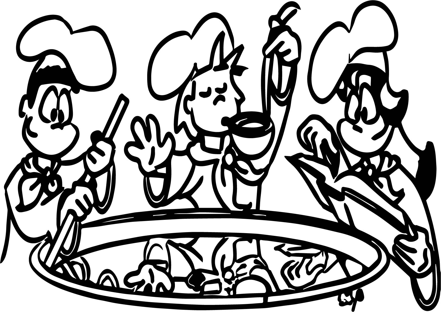 Kids Cooking Color Coloring Page Wecoloringpage