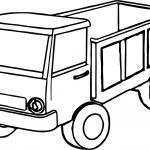 Kids Truck Coloring Page