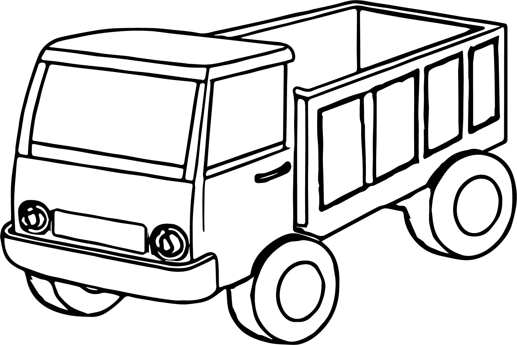 Big Truck Coloring Pages Kids