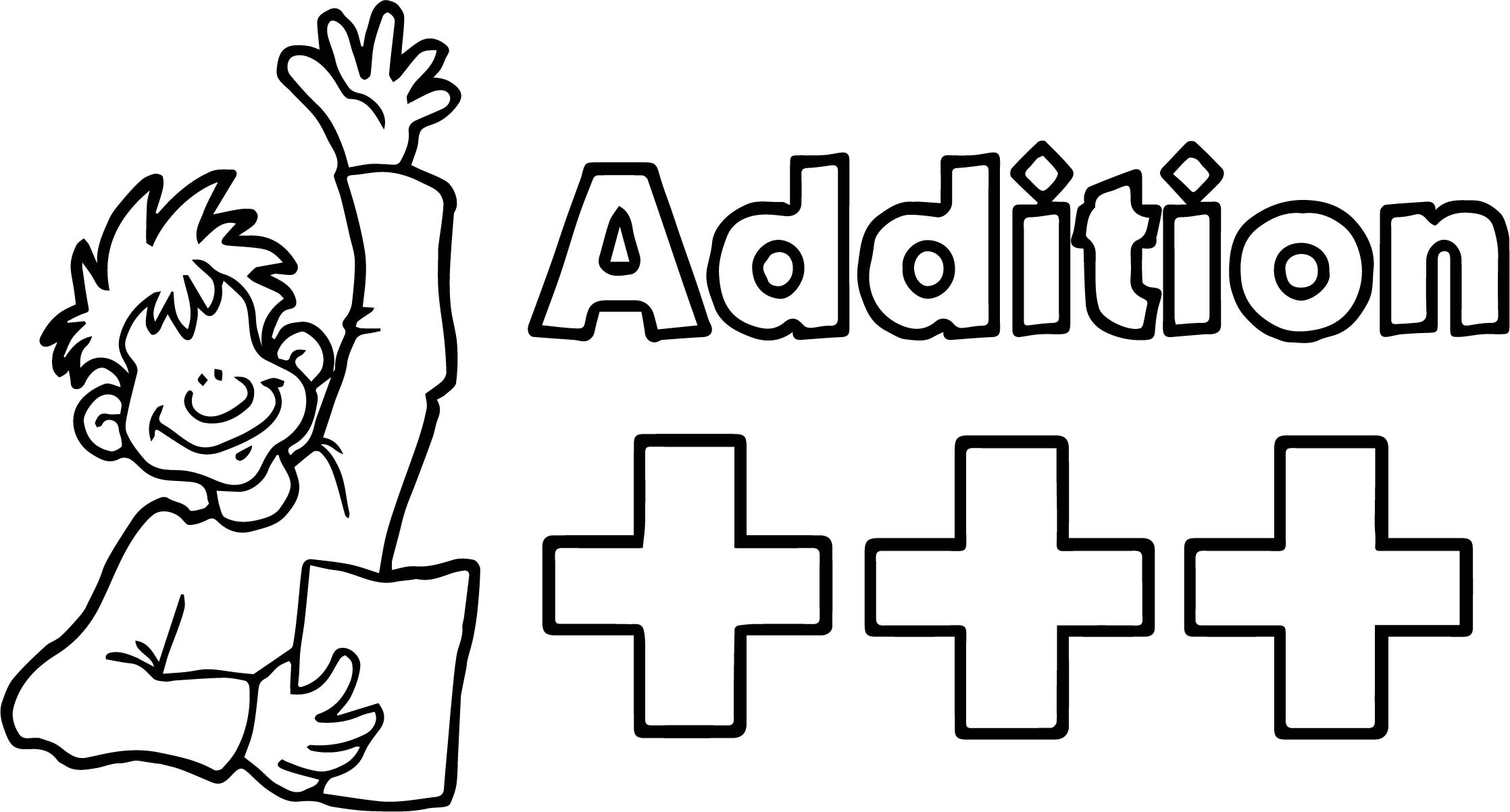 Me Addition Coloring Page