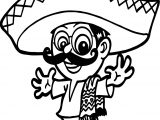 Mexico Man People Coloring Page