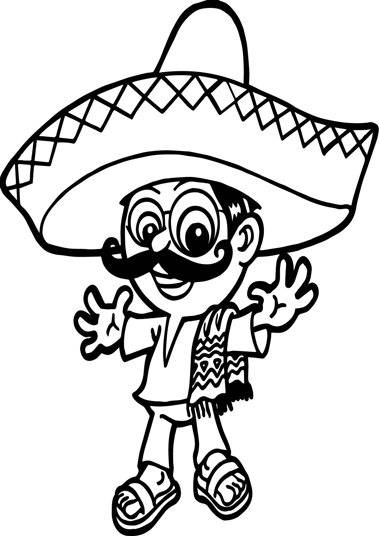 Mexico People Coloring Pages Sketch Coloring Page