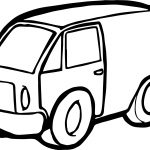 Minivan Toy Car Coloring Page