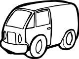 Minivan Toy Car Coloring Page