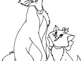 Mother And Girl Cat Disney The Aristocats Coloring Page