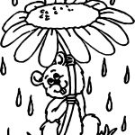 Mouse April Shower Coloring Page