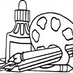 Nap Art Supplies Coloring Page