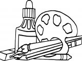 Nap Art Supplies Coloring Page