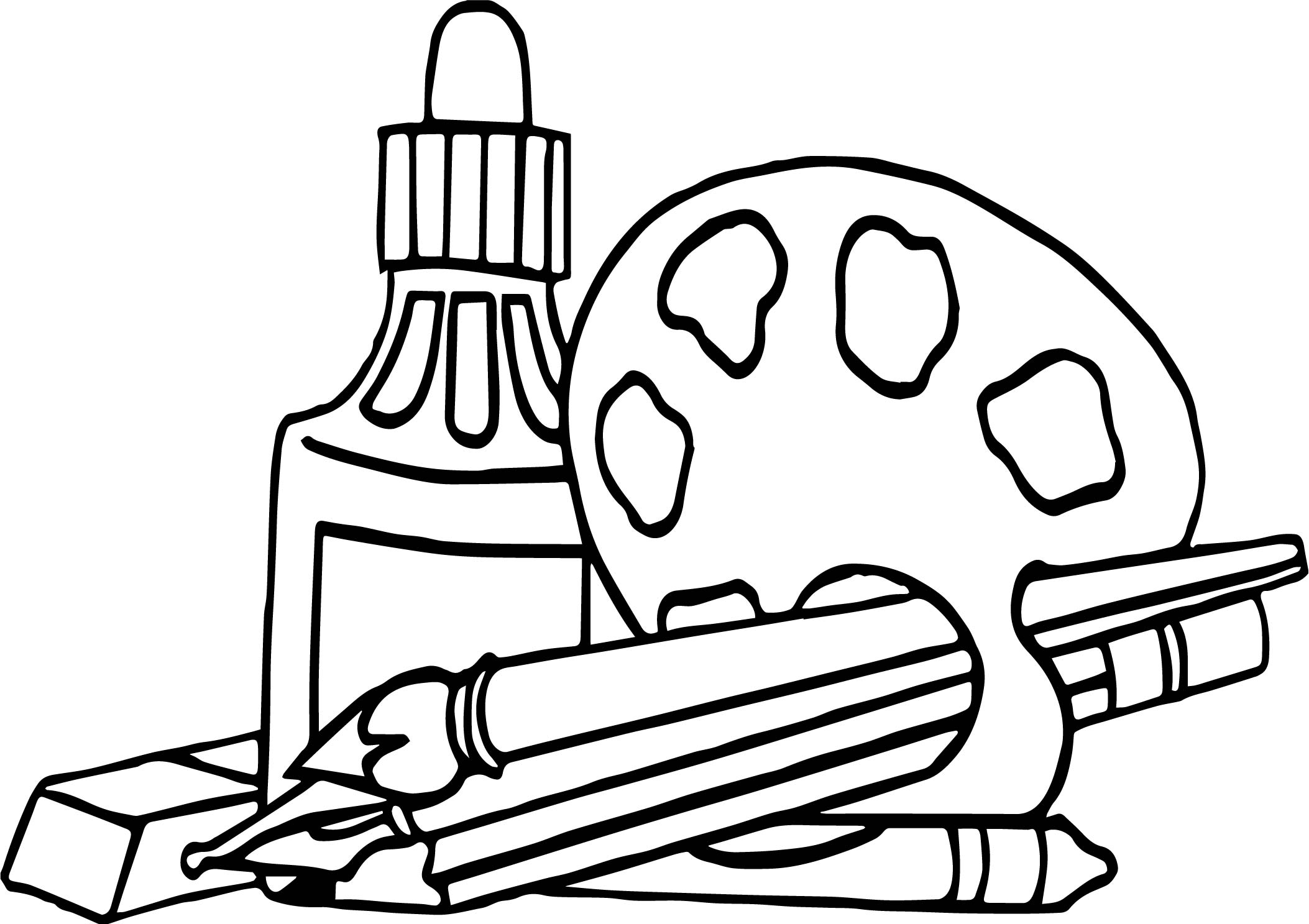 nap art supplies coloring page wecoloringpage