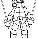 Ninja Turtle Coloring A Page