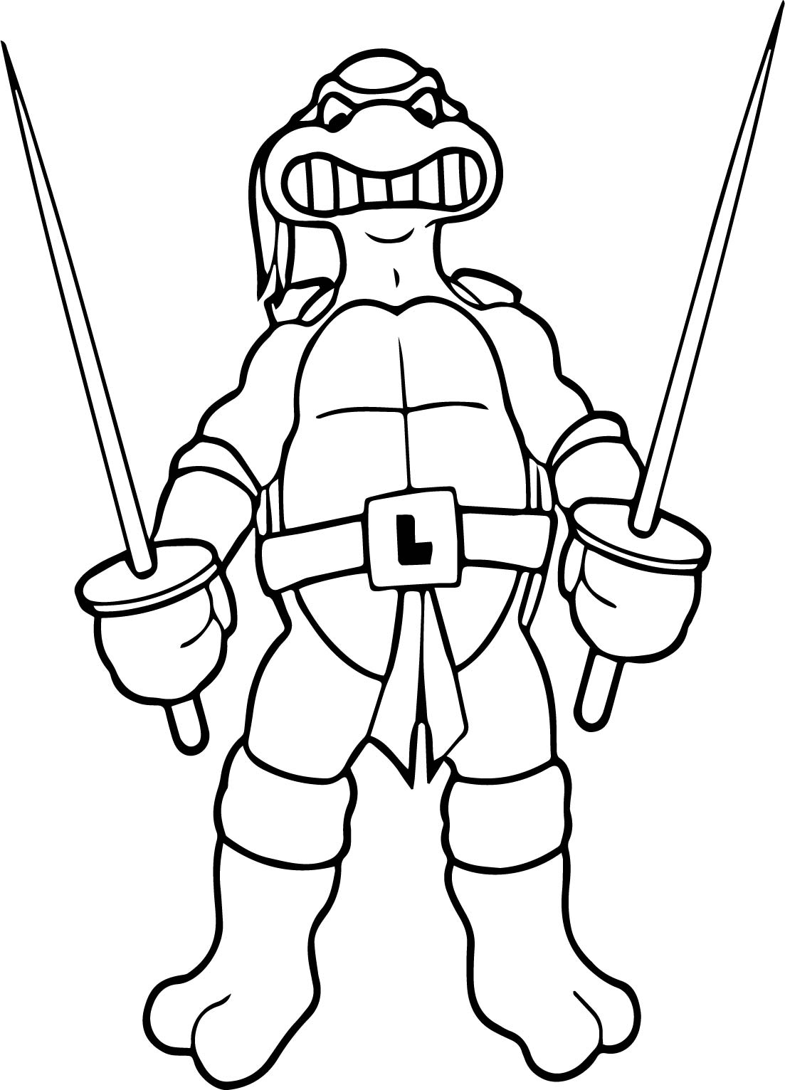 Ninja Turtle Coloring A Page