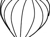 On Air Balloon Coloring Page