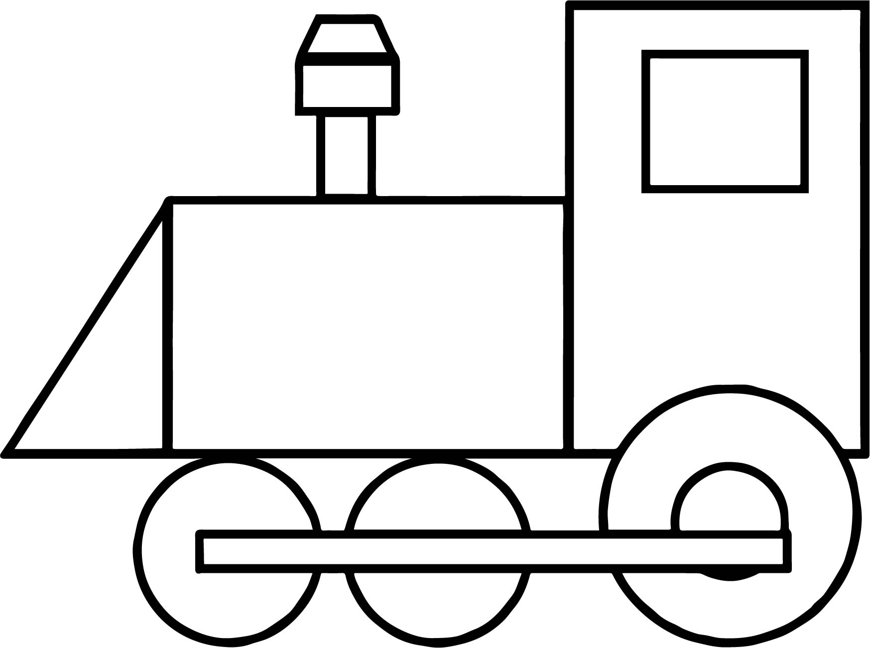 outline train coloring page