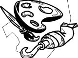 Painting Activity Coloring Page