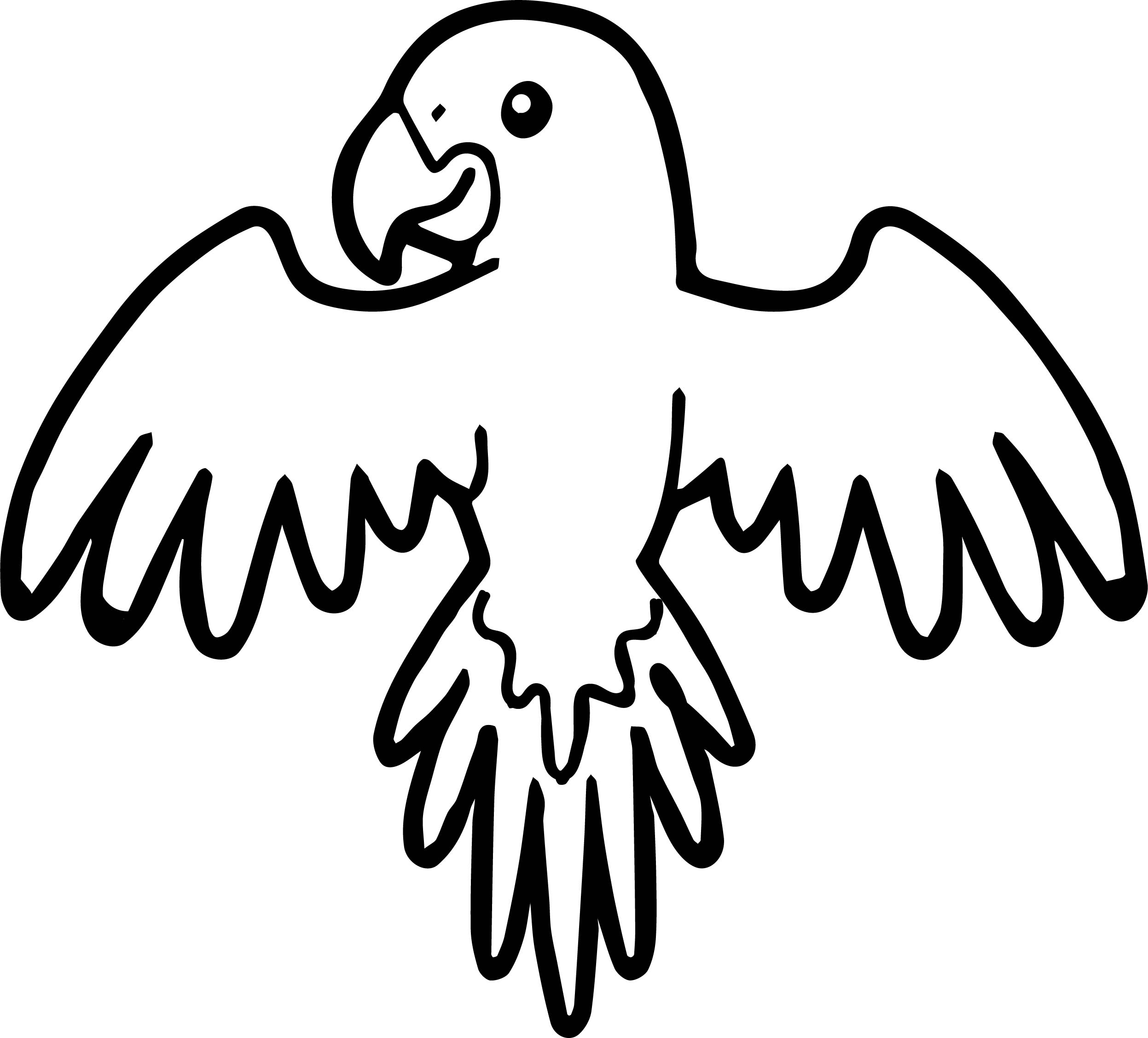 parrot up coloring page wecoloringpage