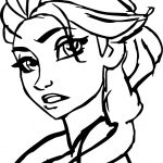 Perfect Girl Elsa Coloring Page
