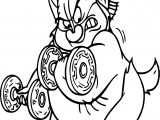 Phil Hercules Weights Coloring Page