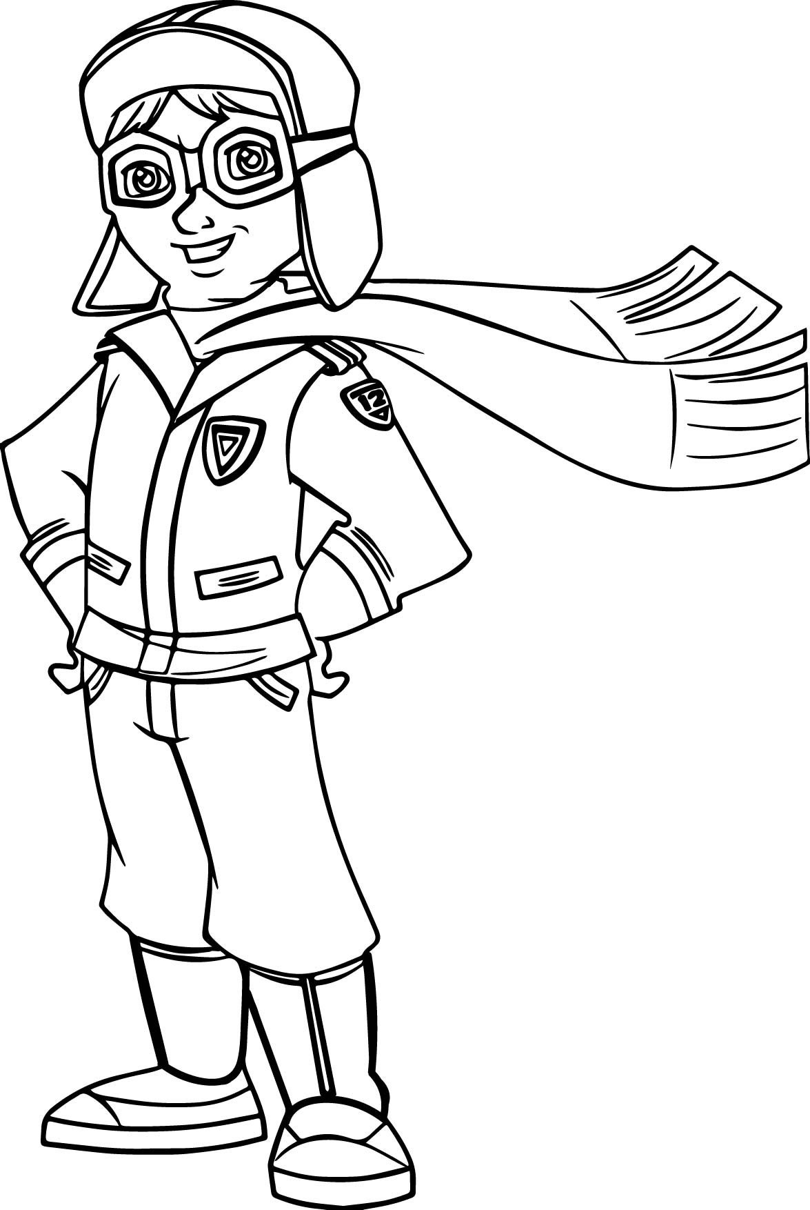 Pilot Best Child Flyer Coloring Page