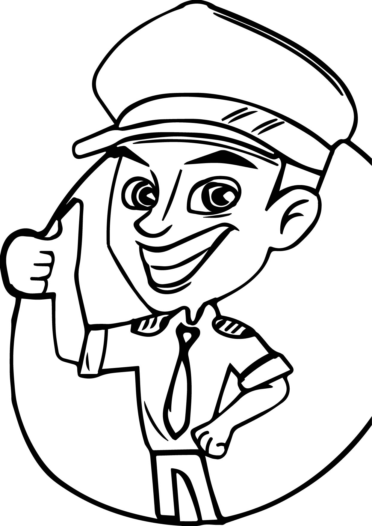 Pilot Everything Alright Coloring Page
