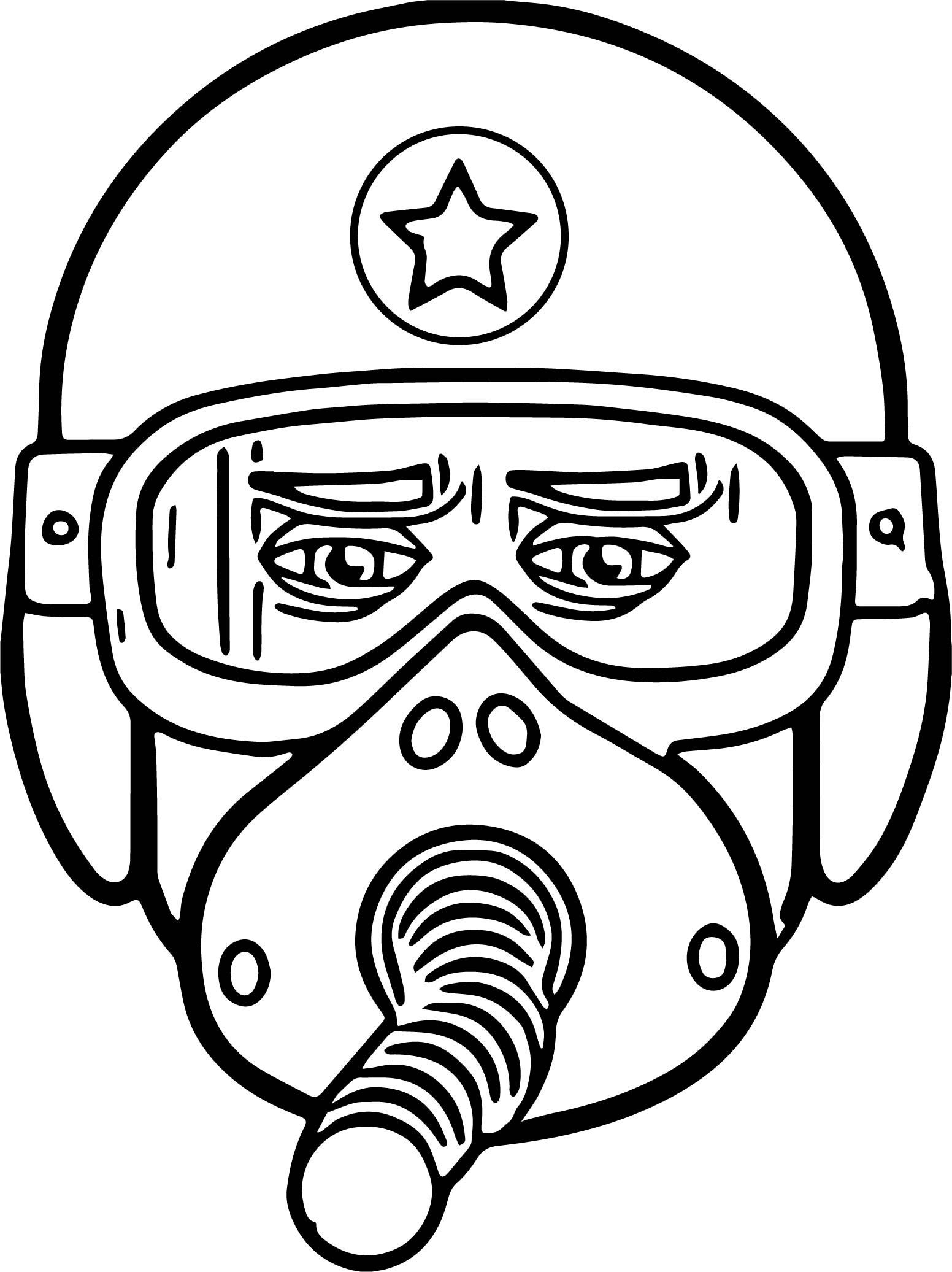 Pilot Hard Flyer Face Coloring Page