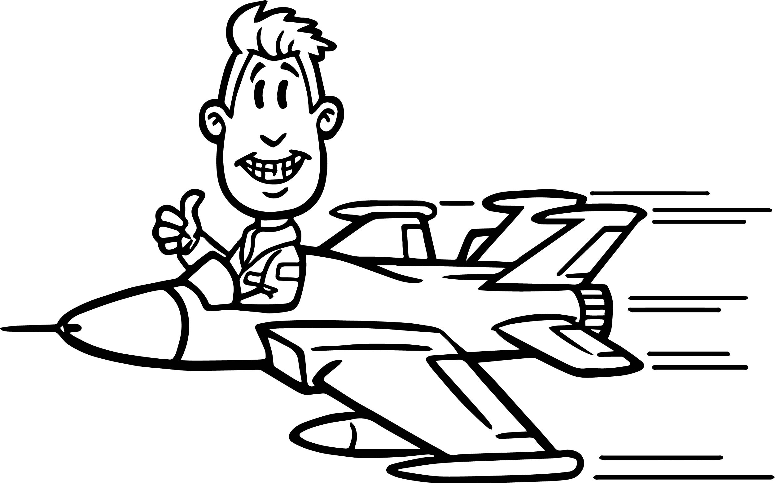 pilot coloring pages - photo#24