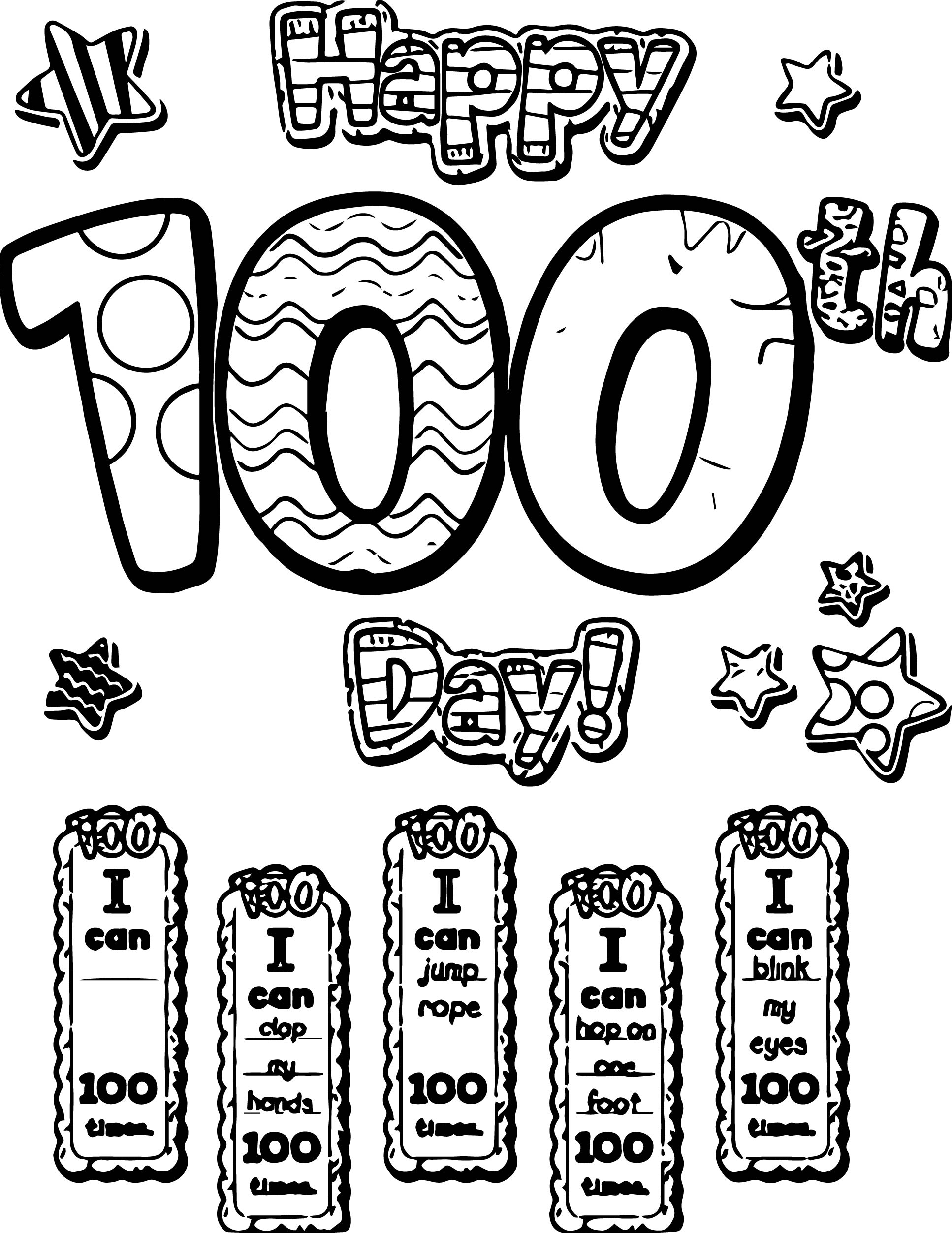 Pin 100th Day Of School Image Search Results On Coloring Page