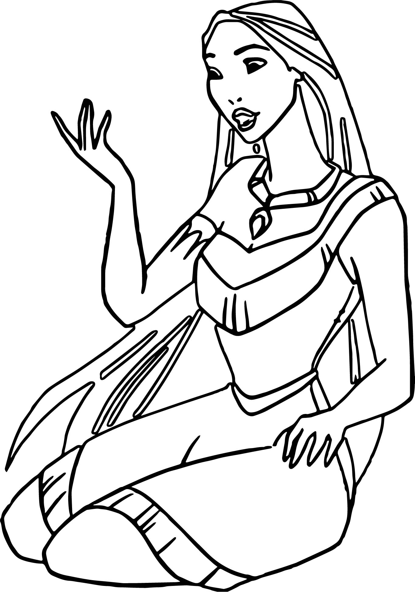 Pocahontas Stay Coloring Page