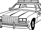 Policeman Car Coloring Page