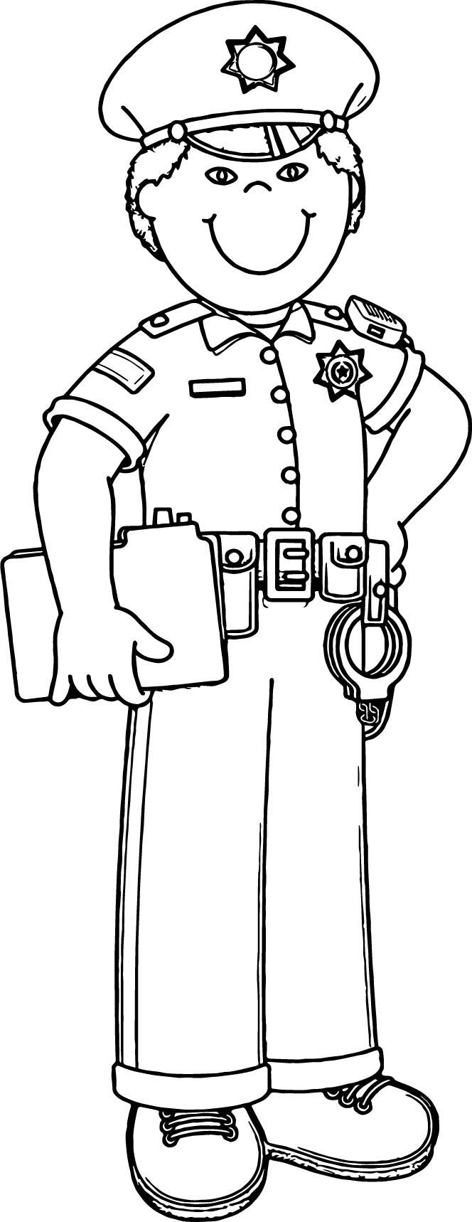 Policeman Coloring Pages Police