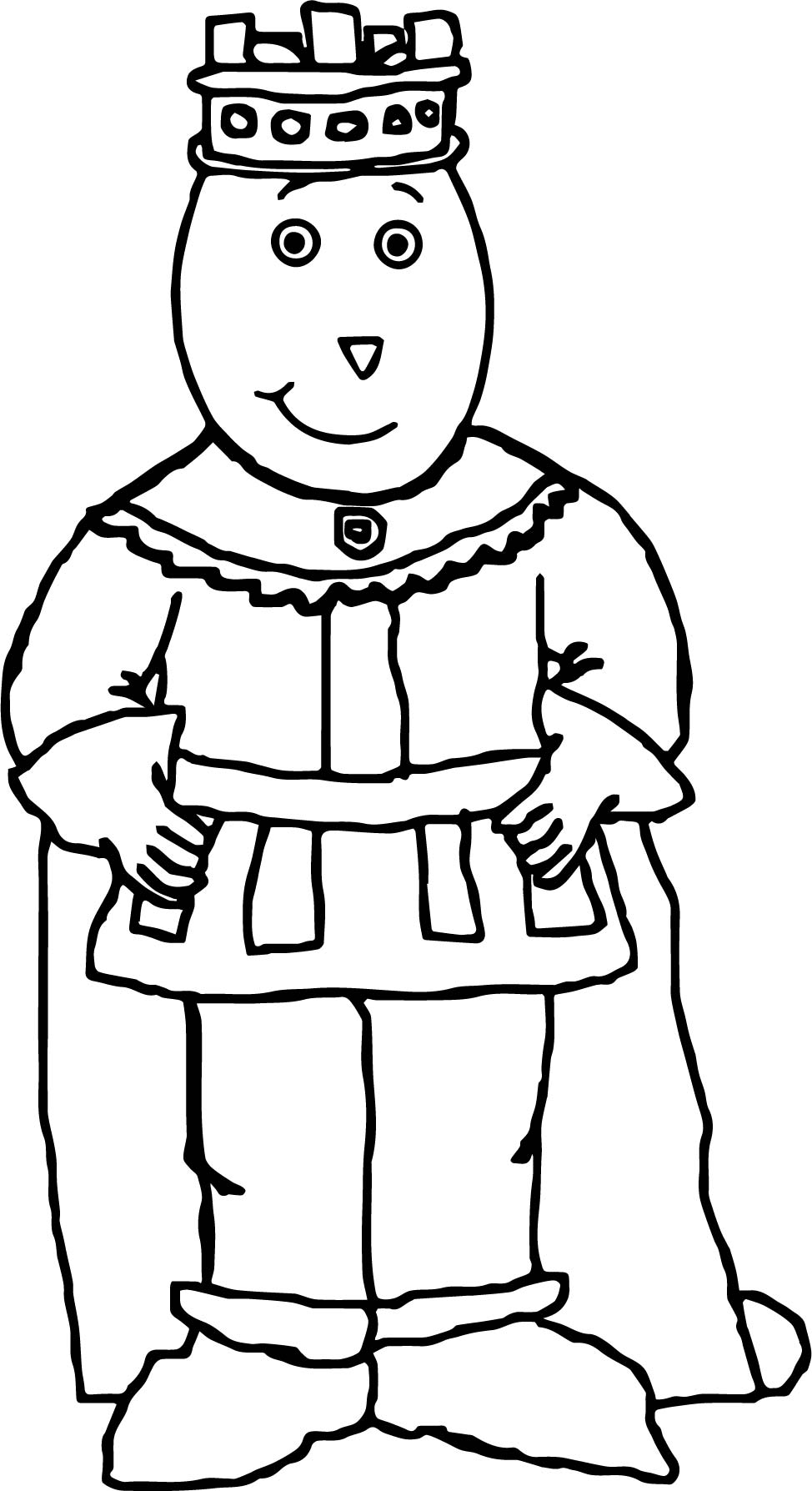 Prince Alan The Brain Powers Arthur Coloring Page