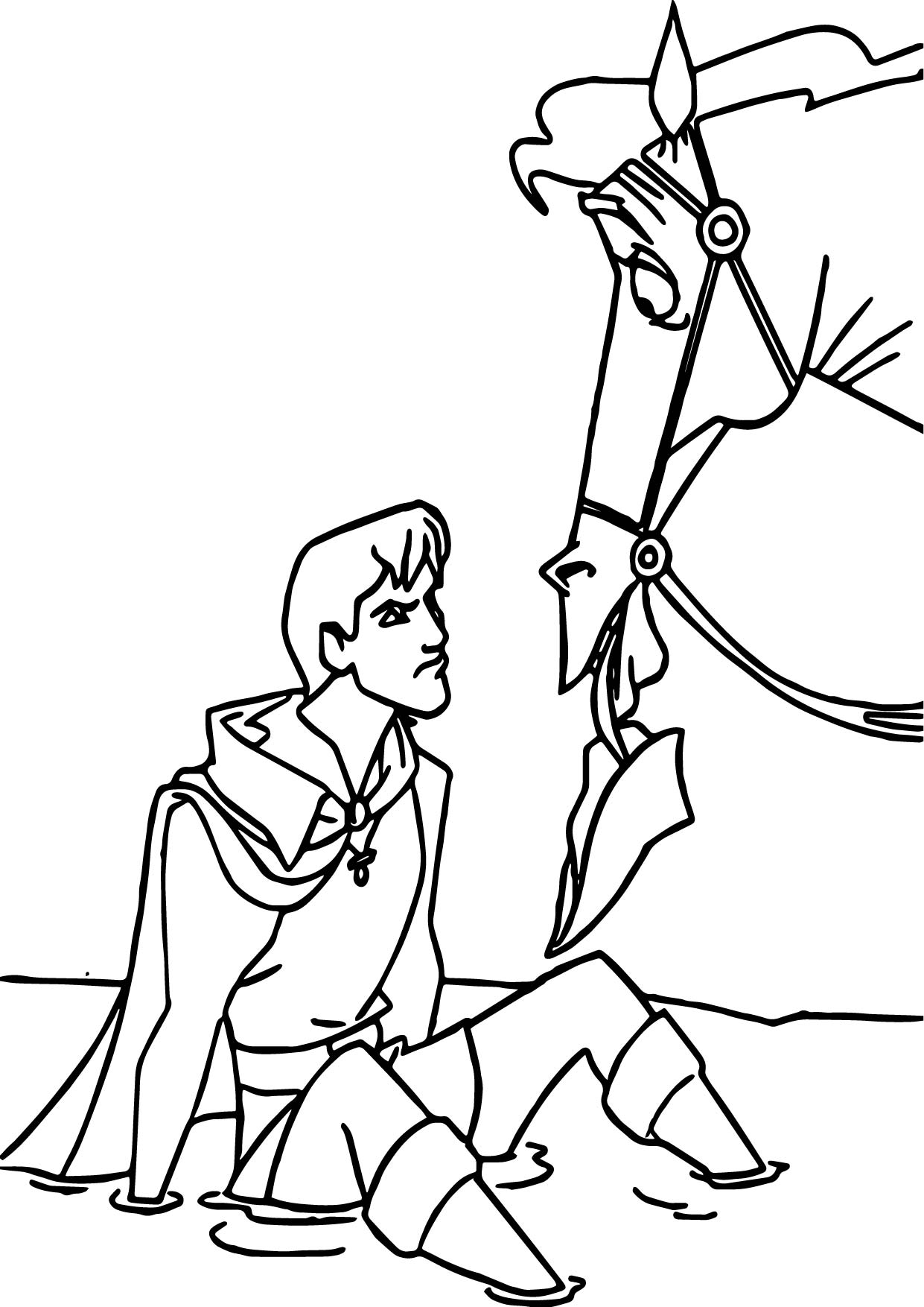 prince phillip and samson horse coloring pages wecoloringpage