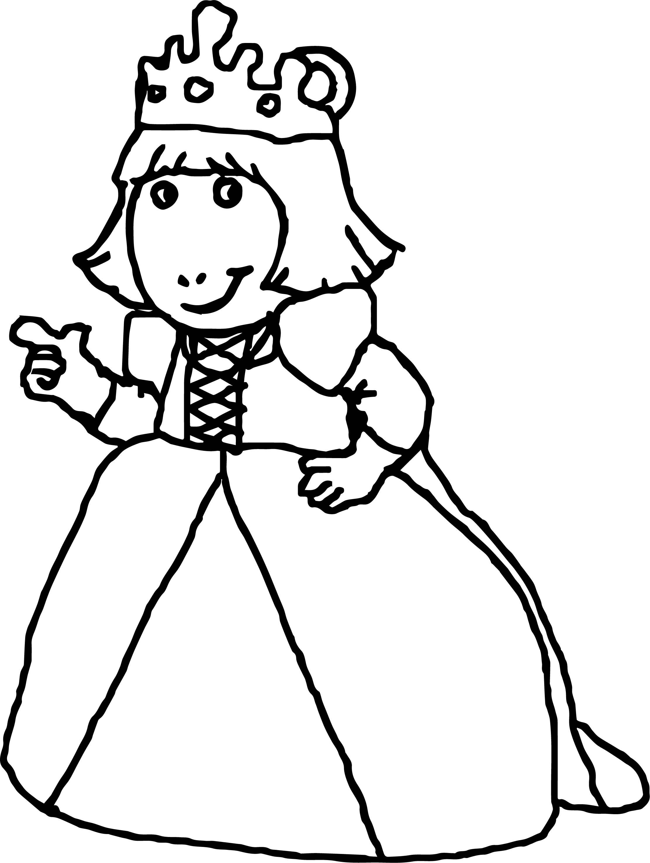 Princess Arthur Coloring Page Wecoloringpage Com