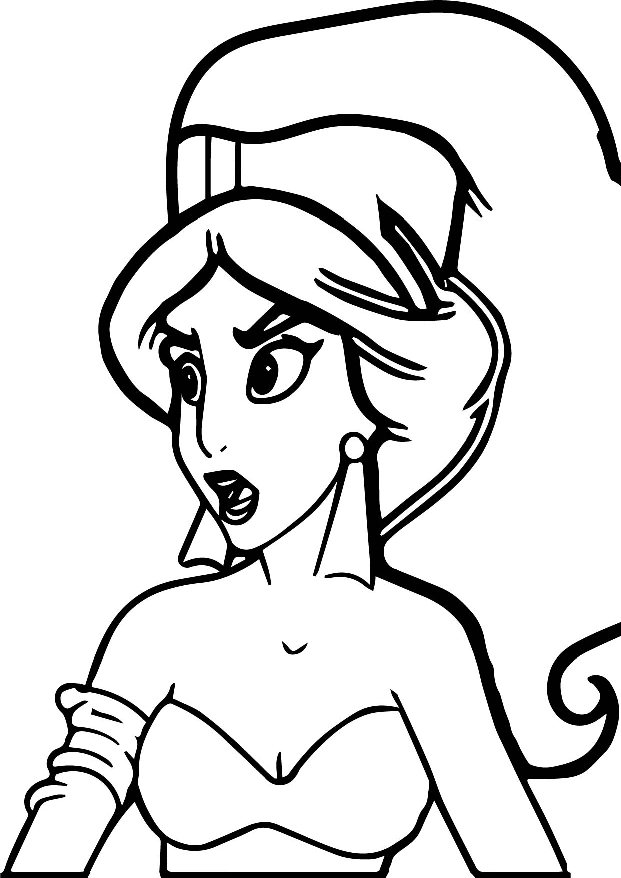 Princess Jasmine From Aladdin Movie Coloring Page | Wecoloringpage