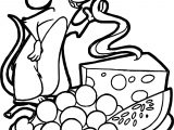 Ratatouille Cheese Grape Watermelon Coloring Page