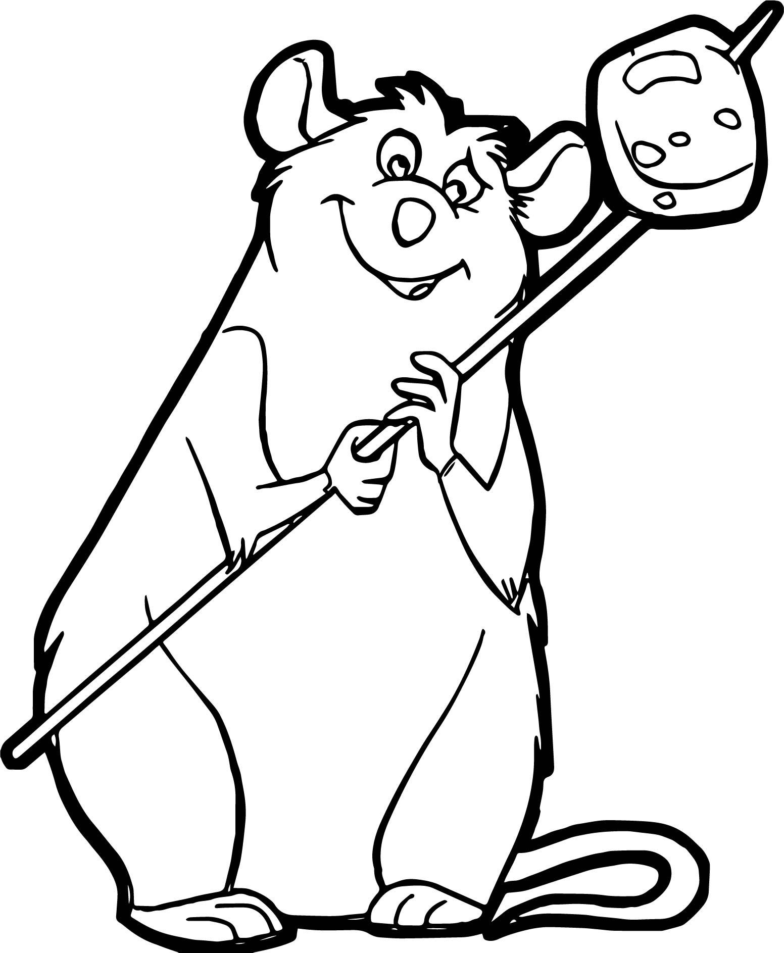 Ratatouille Mouse Django Coloring Page