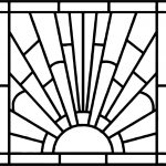 Rectrangle Stained Coloring Page