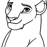 Sarafina Lion King Face Coloring Page