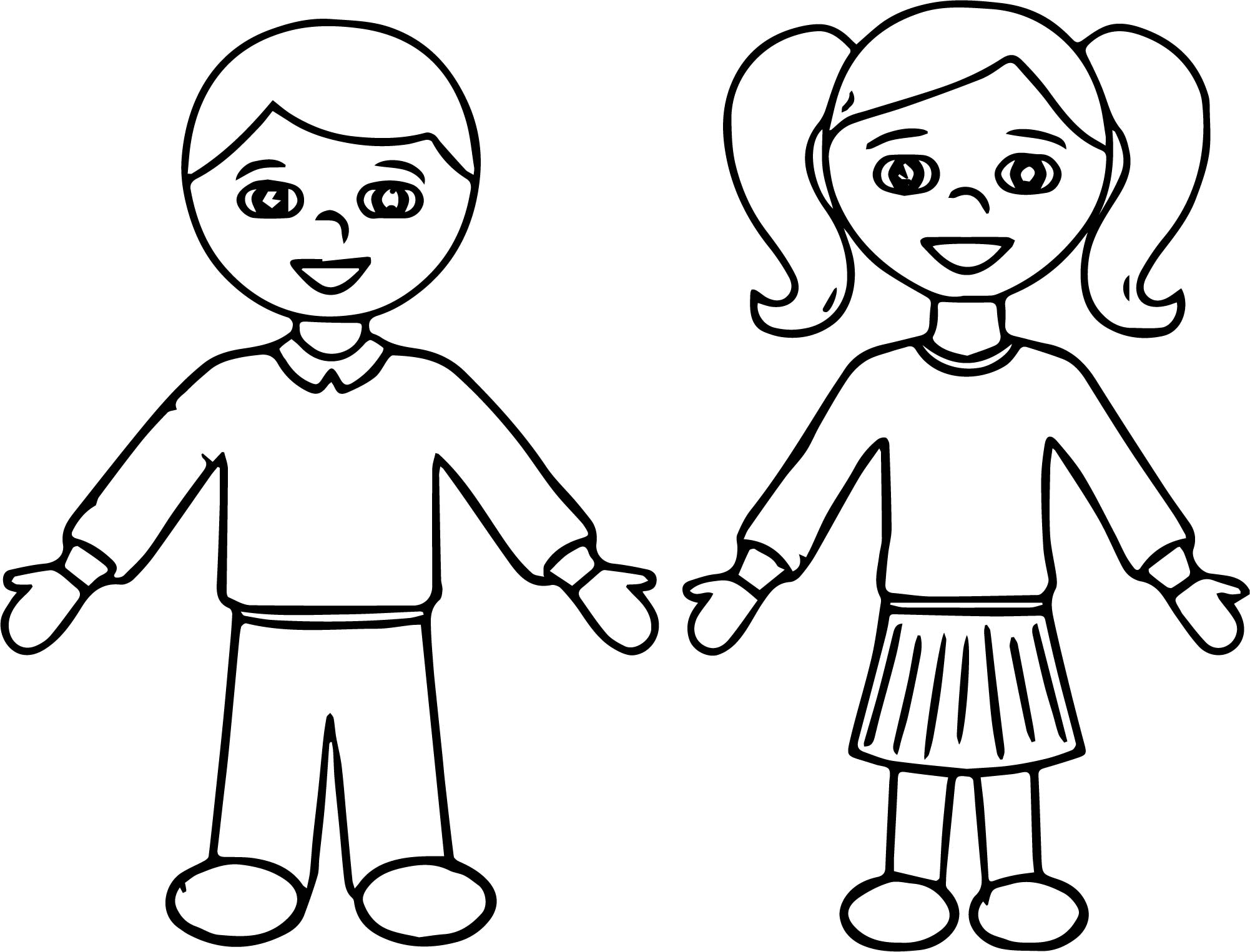 School Students Activity Village Coloring Page