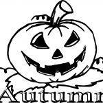 Scream Autumn Pumpkin Coloring Page