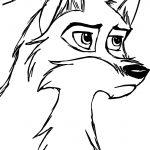 Sketch De Balto Wolf Coloring Page
