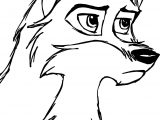 Sketch De Balto Wolf Coloring Page