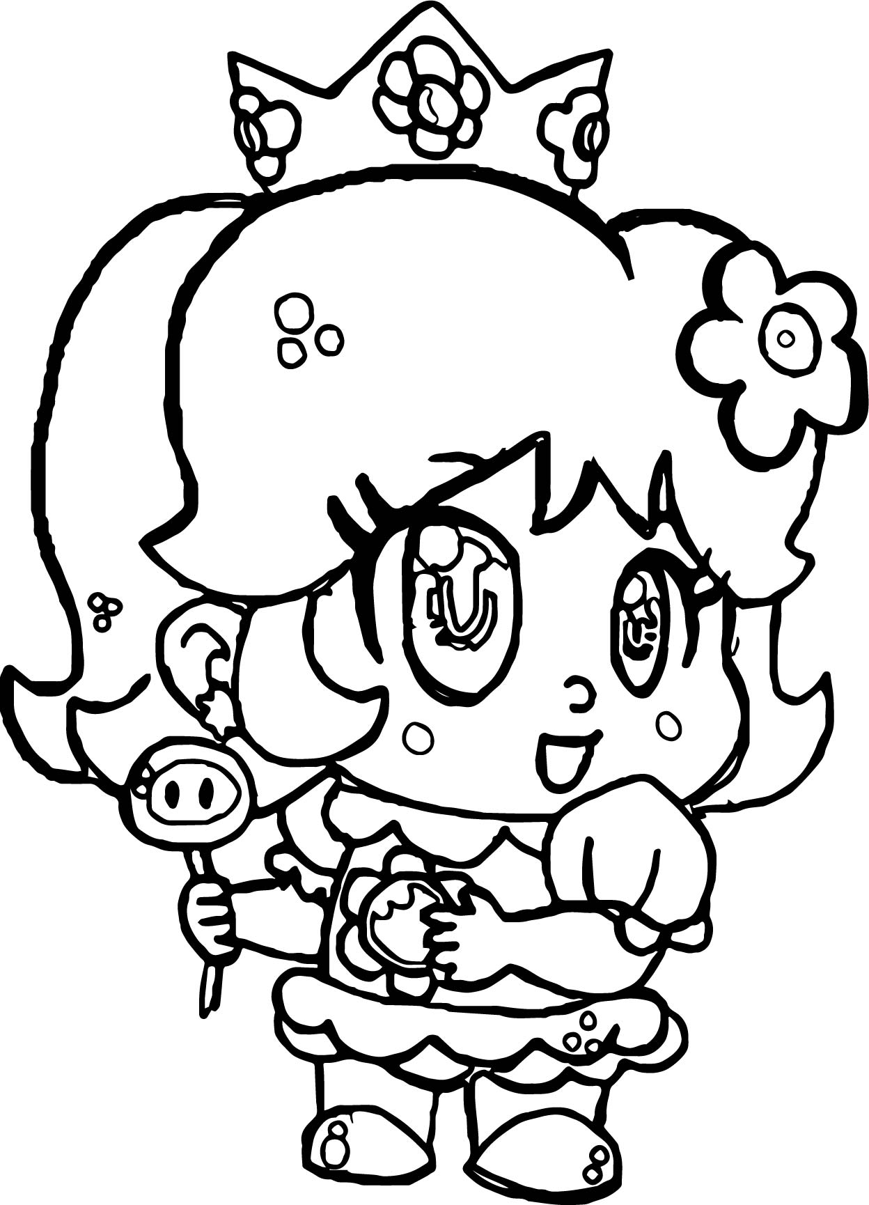 Small Baby Daisy Coloring Page